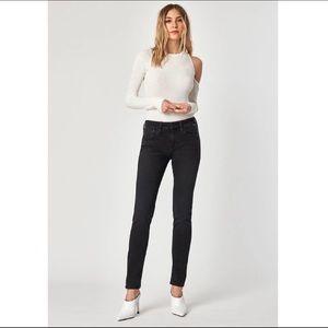 Mavi Alexa Skinny Mid-Rise Jeans in Black Size 26